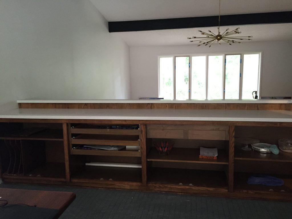 mid century modern buffet dining room