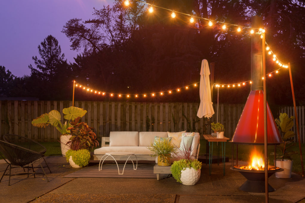 how to install patio string lights