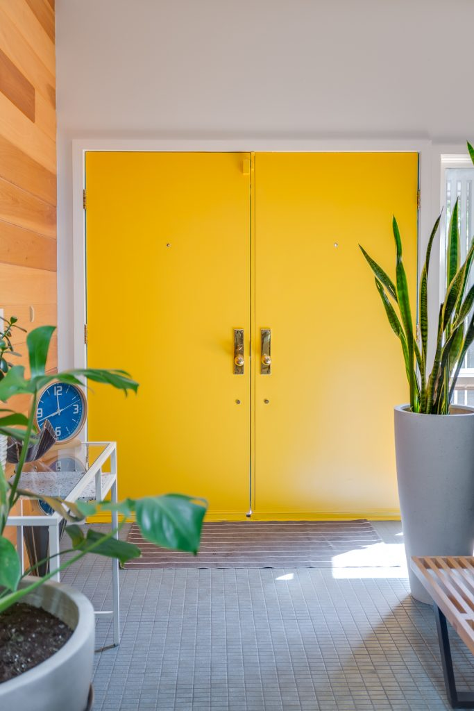 sherwin williams goldfinch yellow doors