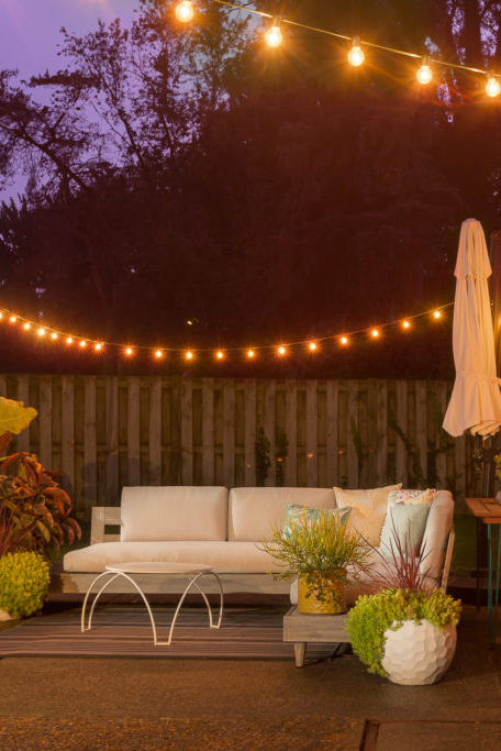 dreamy patio lights