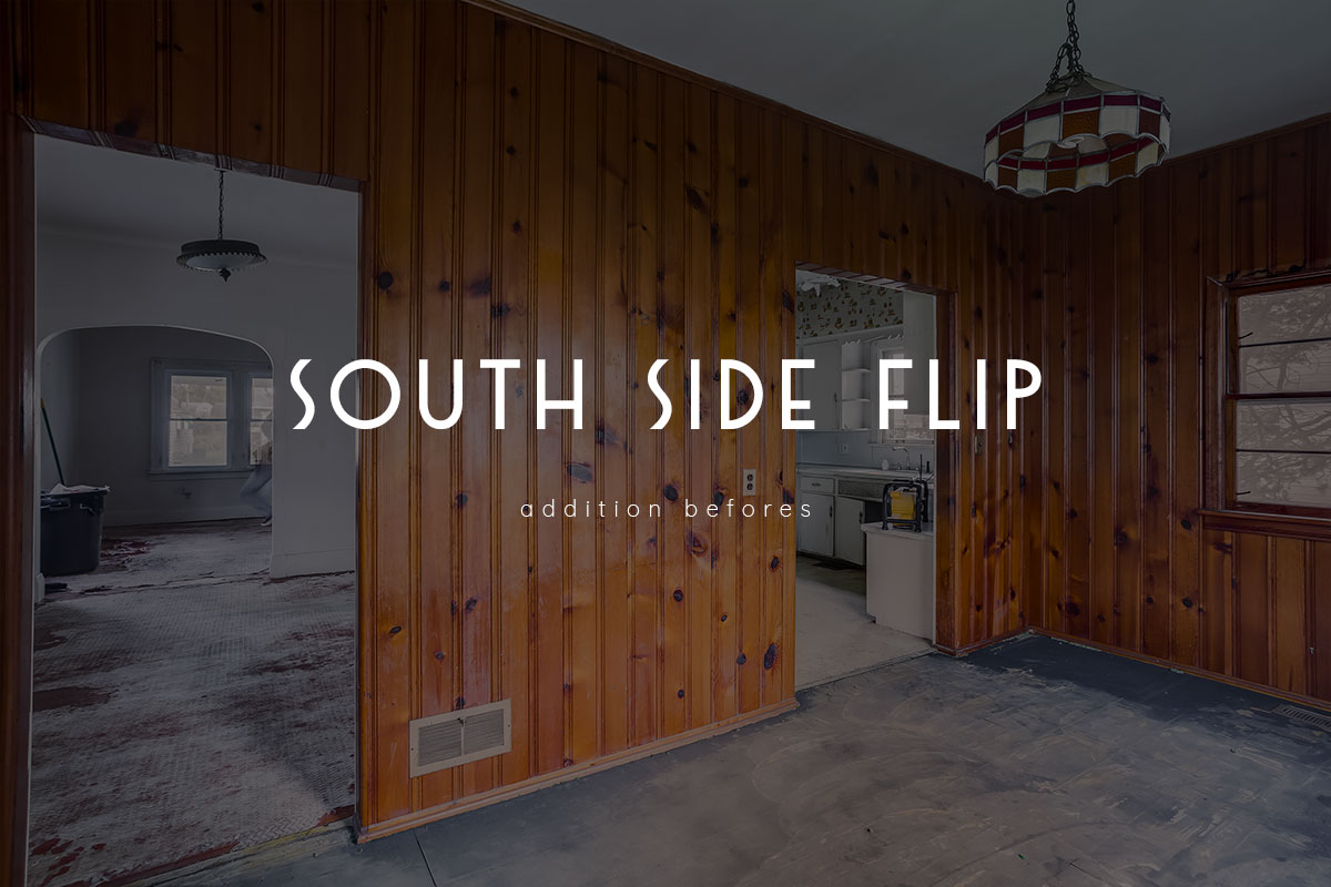 south side flip – mudroom / half bath