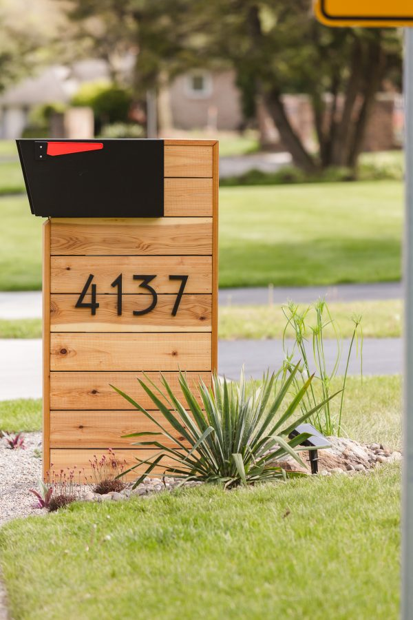 Modern Mailbox DIY how to build guide